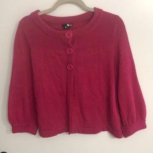H&M pink knit poncho like sweater